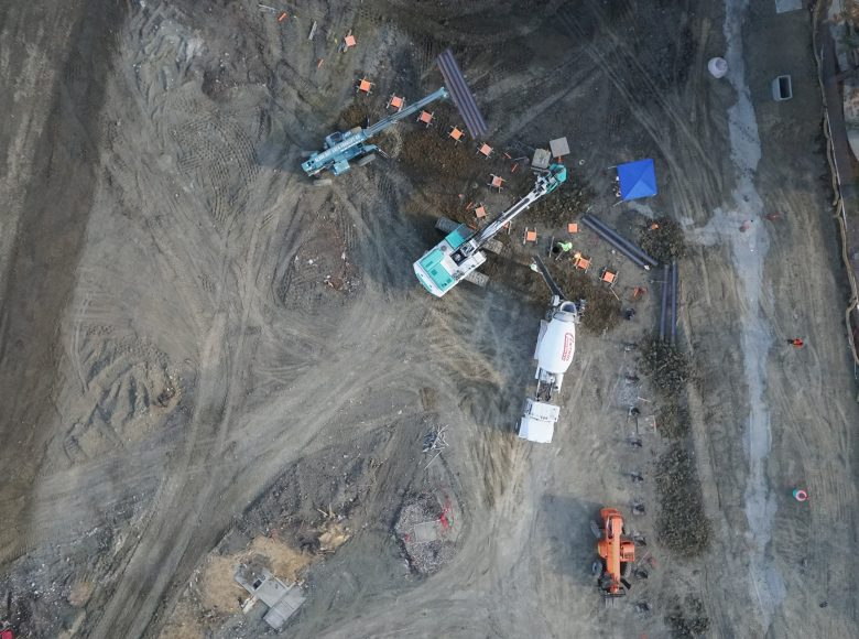aerial mapping construction site